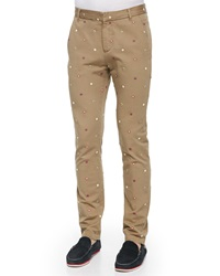 Band Of Outsiders Embroidered Foulard Chino Pants