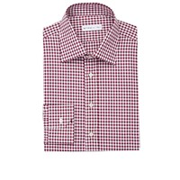 Etro Gingham Dress Shirt Wine