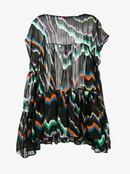 Missoni Printed Silk Mare Kaftan Black Multi Coloured