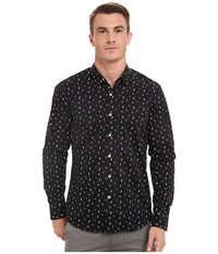 7 Diamonds Music Drive Top Black Men's Long Sleeve Button Up