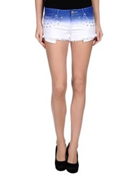 Reverse Denim Shorts Blue