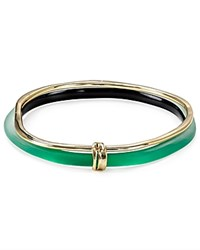 Alexis Bittar Lucite And Liquid Metal Double Skinny Bangles Set Of 2 Leaf Green