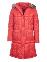 Barbour Icefield Quilted Coat Red
