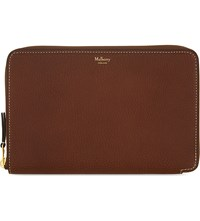 Mulberry Grained Leather Travel Wallet Oak