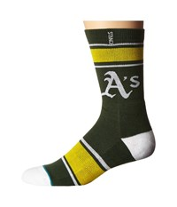 Stance Green And Gold Green Men's Crew Cut Socks Shoes