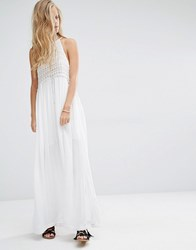 Pull And Bear Pullandbear Long Dress With Front Buttons White