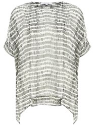 Chesca Neptune Striped Kaftan Grey