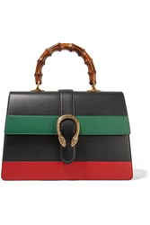 Gucci Dionysus Bamboo Large Paneled Leather Tote Black
