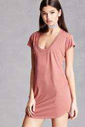 Forever 21 Longline Scoop Neck Tee