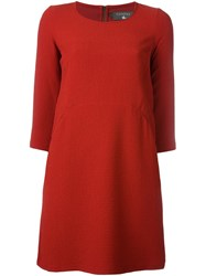 Cotelac Shortsleeved Shift Dress Red
