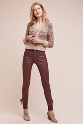 Anthropologie Pilcro Script Coated High Rise Jeans Wine