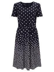 Gerry Weber Spot Print Fit And Flare Dress Indigo