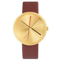 Projects Watches Crossover Watch Brass Brown Leather Band