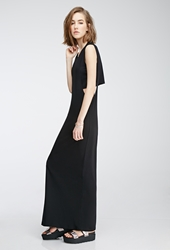 Forever 21 Layered Maxi Dress Black
