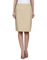 Germano Zama Knee Length Skirts Beige