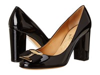 Salvatore Ferragamo Ninna 85 Nero Glass Flower High Heels Black