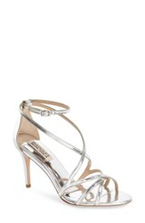 Women's Badgley Mischka 'Lillian' Metallic Evening Sandal Silver Specchio