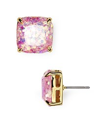 Kate Spade New York Small Square Glitter Stud Earrings Pale Pink
