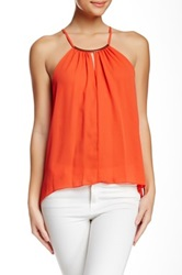 Eight Sixty Trim Halter Top Orange