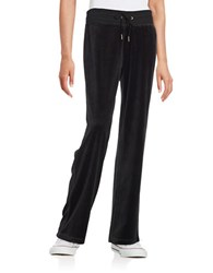 Calvin Klein Drawstring Velour Pants Black