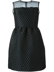 Red Valentino Sheer Panel Dress Black