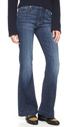 7 For All Mankind Short Inseam Ginger Jeans Royal Broken Twill