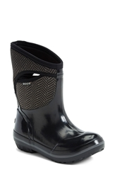 Bogs 'Plimsoll Herringbone' Mid High Waterproof Snow Boot Women Black Grey