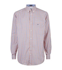 Paul And Shark Gingham Shirt Male Orange