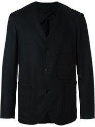 Christophe Lemaire Lemaire Collarless Blazer Black