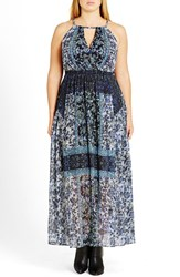 City Chic Plus Size Women's 'Mosaic Twist' Maxi Dress