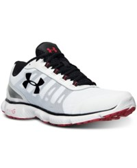 Under Armour Men's Micro G Attack 2 Running Sneakers From Finish Line White White Black