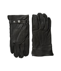 Original Penguin Leather Gloves With Darts Black Extreme Cold Weather Gloves