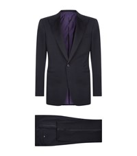 Ralph Lauren Purple Label Drake Peak Lapel Tuxedo Male Black