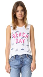 Chrldr Beach Day Muscle Tee White