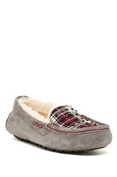 Ansley Suede Uggpure Lined Plaid Moccasin Black