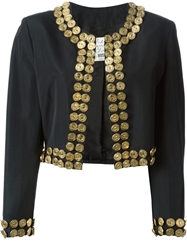 Moschino Vintage Metal Coin Detail Jacket Black