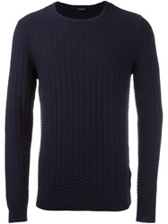 Calvin Klein 'Saymore' Crew Neck Jumper Blue