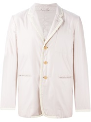Helmut Lang Vintage Padded Blazer Nude And Neutrals