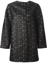 Tsumori Chisato Emoji Applique Coat Black