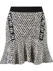 Cecilia Prado Peplum Knitted Skirt Black