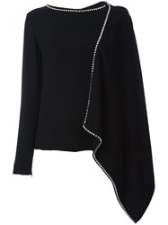 Mcq By Alexander Mcqueen Embellished Cascade Top Black