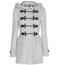 Burberry Blackwell Wool Duffle Coat Grey