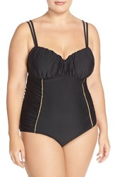 Plus Size Women's Jessica Simpson 'Sweet Sailor' Underwire One Piece Swimsuit