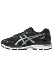 Asics Gelnimbus 18 Cushioned Running Shoes Black Silver Carbon