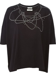 Each X Other Embellished Oversized T Shirt Black