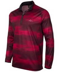 Greg Norman For Tasso Elba Printed Quarter Zip Jacket Only At Macy's Bright Crimson