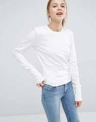 Cheap Monday Sweatshirt With Heart Cut Out White