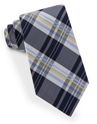 Lord And Taylor James Plaid Tie Navy