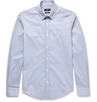 Hugo Boss Rodney Gingham Stretch Cotton Shirt Gray