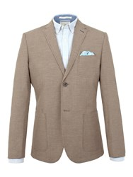 Racing Green Andres Puppytooth Blazer Brown